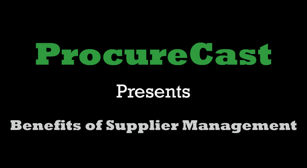 Benefits of Supplier Management