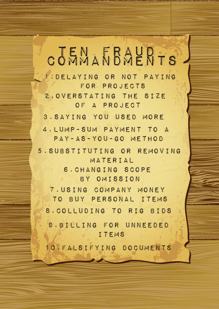 Ten Fraud Commandments