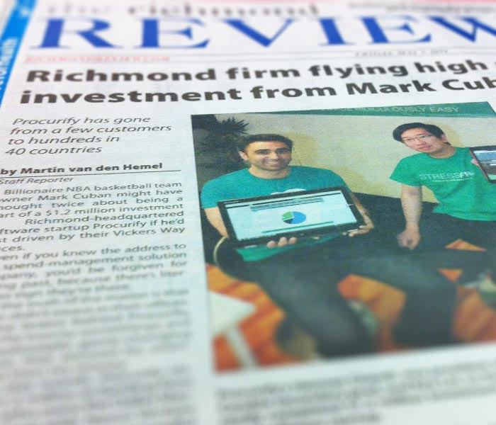 Procurify Richmond Review Front Page