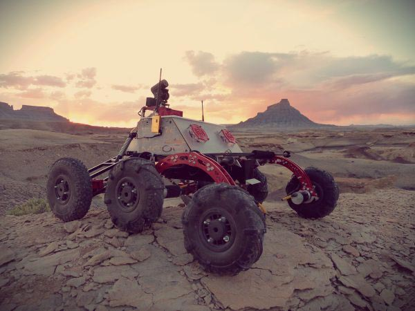 Called Ares, this prototype rover was built by the undergraduate students behind Cornell Mars Rover